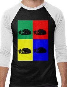 Pop Art Tabby Cat  Men's Baseball ¾ T-Shirt