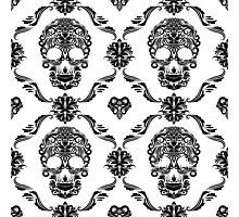 Black Floral Sugar Slull Photographic Print