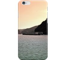 Danube river ship at evening | waterscape photography iPhone Case/Skin
