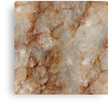 Realistic Brown Faux Marble Stone Pattern Canvas Print