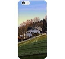 Village houses on the hill | landscape photography iPhone Case/Skin