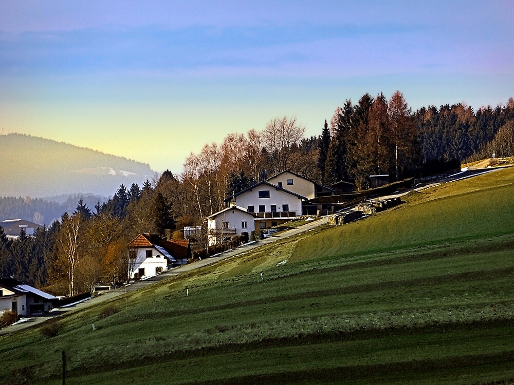 Village houses on the hill | landscape photography by Patrick Jobst