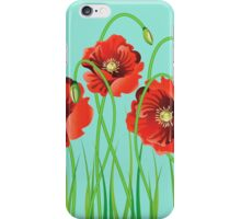 Poppy with Grass iPhone Case/Skin