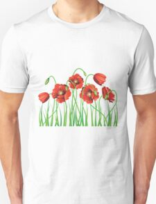 Poppy with Grass T-Shirt