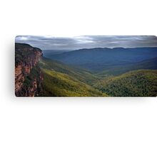 View over the Blue Mounains Canvas Print