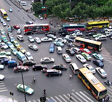 Gridlock - Shanghai, China by John Meckley