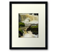 Waterfall at Earby, Lancashire. Framed Print