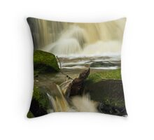 Waterfall at Earby, Lancashire. Throw Pillow
