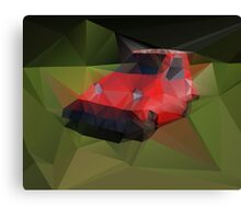 Red Electric Car Canvas Print