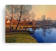 Winter mood on the river IV | waterscape photography Metal Print