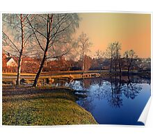 Winter mood on the river IV | waterscape photography Poster