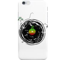Reggae Music Peace - Vinyl Records Weed Cannabis - Cool Retro Music DJ inspired design iPhone Case/Skin