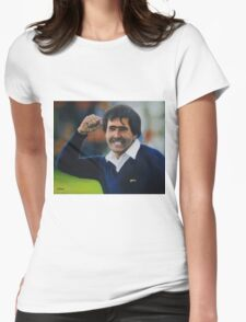 Seve Ballesteros Oil on Canvas Womens Fitted T-Shirt
