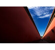 Red Corridor - The Forbidden City, China Photographic Print