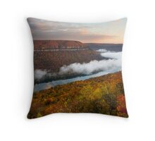 Tennessee River Gorge - Chattanooga, Tennessee Throw Pillow