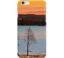 Amazing winter wonderland sundown | landscape photography iPhone Case/Skin