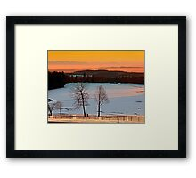 Amazing winter wonderland sundown | landscape photography Framed Print