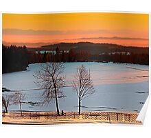 Amazing winter wonderland sundown | landscape photography Poster
