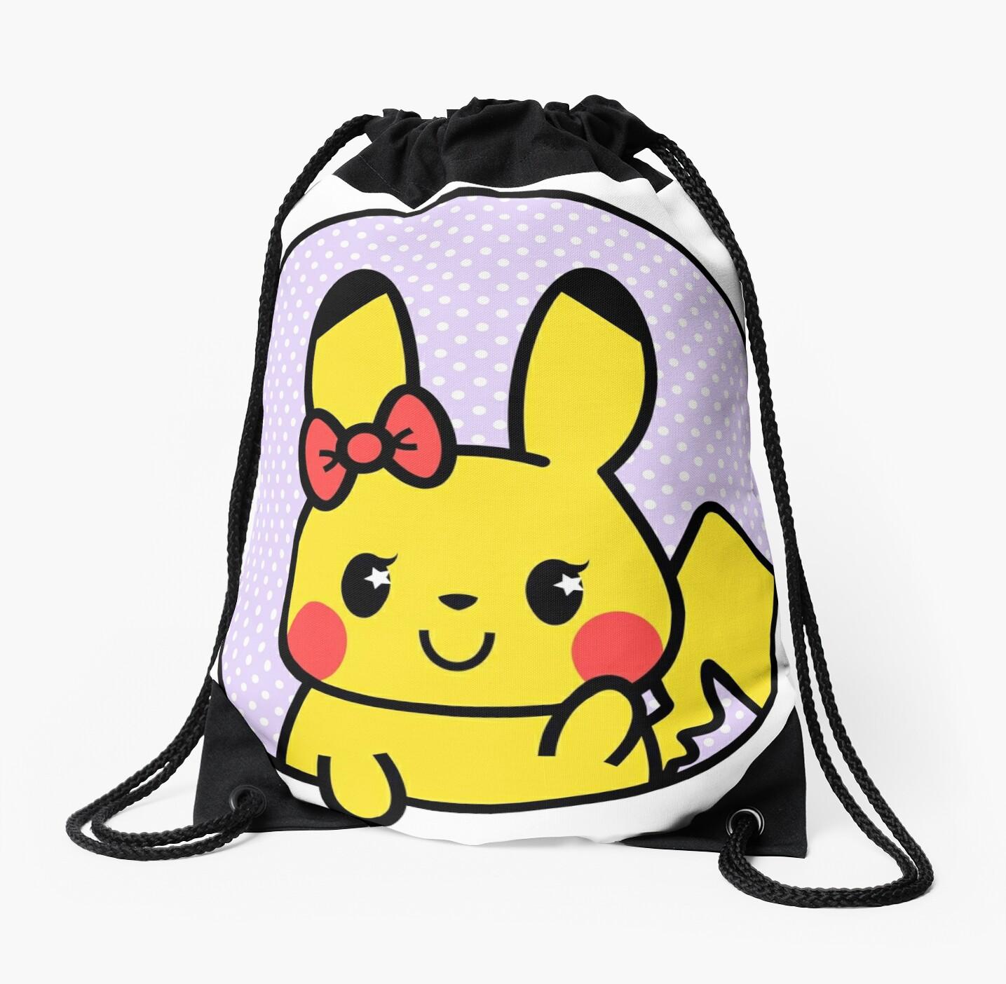 Kawaii Bow Bag Drawstring Bag X Bg Fff