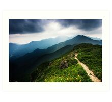 Ridge Path - Deogyusan National Park, South Korea Art Print
