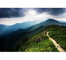 Ridge Path - Deogyusan National Park, South Korea Photographic Print