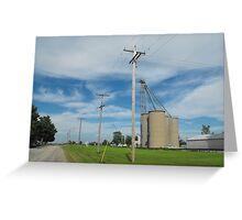 Grain Elevators Greeting Card