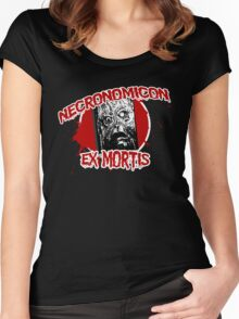 The Necronomicon Ex Mortis Women's Fitted Scoop T-Shirt