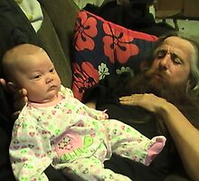 my dad and my neice by christelljune