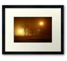 Foggy Evening in County Clare Framed Print