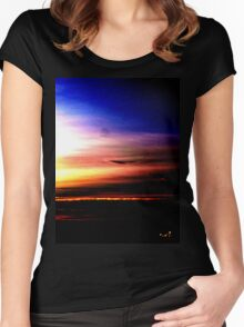 Northern Sunset Women's Fitted Scoop T-Shirt