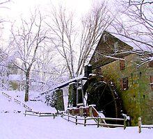 Rock Run Mill in the Snow 2 by Hope Ledebur