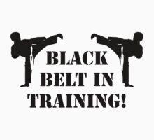 Black belt in training Kids Clothes