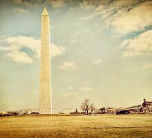 Washington Monument in Winter by Kadwell