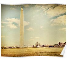 Washington Monument in Winter Poster