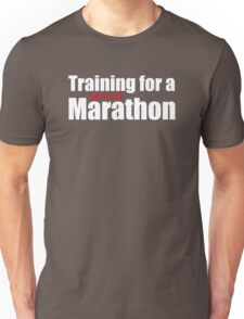Training for a [netflix] Marathon Unisex T-Shirt