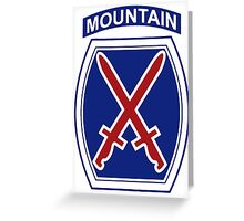 10th Mountain Division Greeting Card