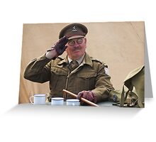 """You Stupid Boy"" (Captain Mannering - Dads Army) Greeting Card"