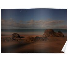 Etty Bay by moonlight Poster