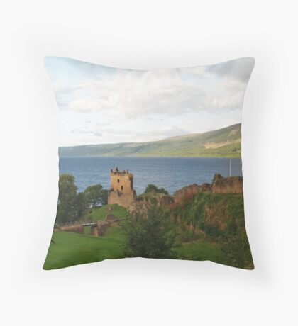Urquhart Castle and Loch Ness Throw Pillow