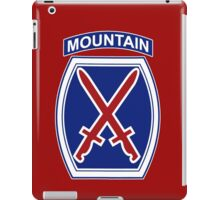 10th Mountain Division iPad Case/Skin