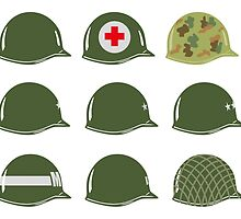 US Army Helmets WW2 by wiscan
