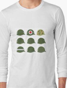 US Army Helmets WW2 Long Sleeve T-Shirt