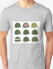 US Army Helmets WW2 Unisex T-Shirt