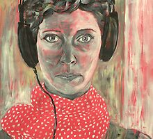 Self-portrait with headphones III. by kudra