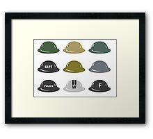 British Helmet (Brodie) of WW2 Framed Print