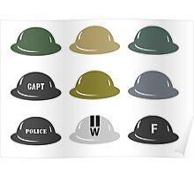 British Helmet (Brodie) of WW2 Poster