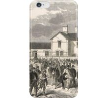 New railway station Epsom Downs 1865 iPhone Case/Skin