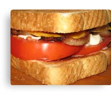 Toasted Bacon, Tomato & Cheese Mmmmmmmmmmmmmmmmmmmmmmmmmmmmmm.....Yum! Canvas Print