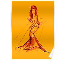 Sweet little mermaid Poster