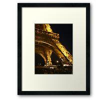 Eiffel night lights Framed Print